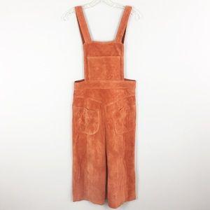 Free People | Orange Suede Pocket Dress - M3